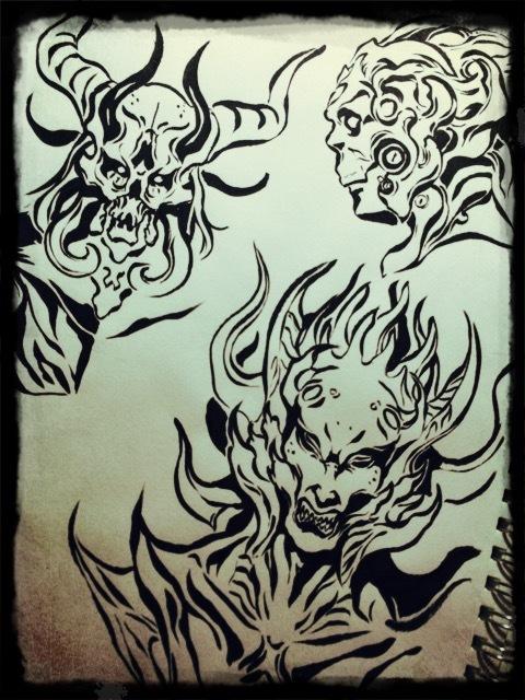 怪物の筆絵