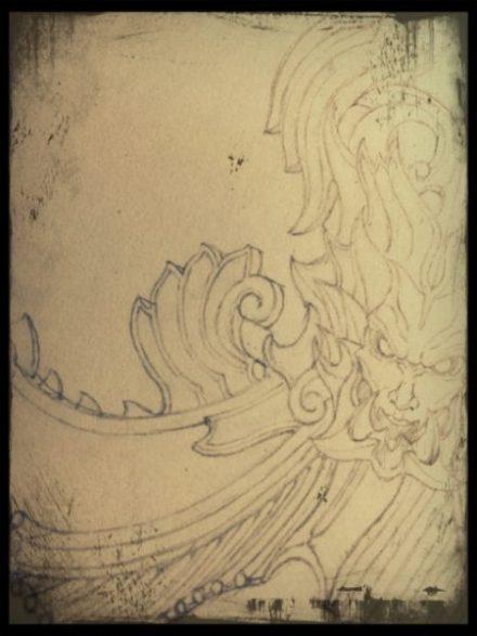 高橋建のサイトの鉛筆で描いたデザイン画